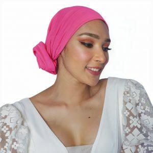 headwear tipo rosa cáncer