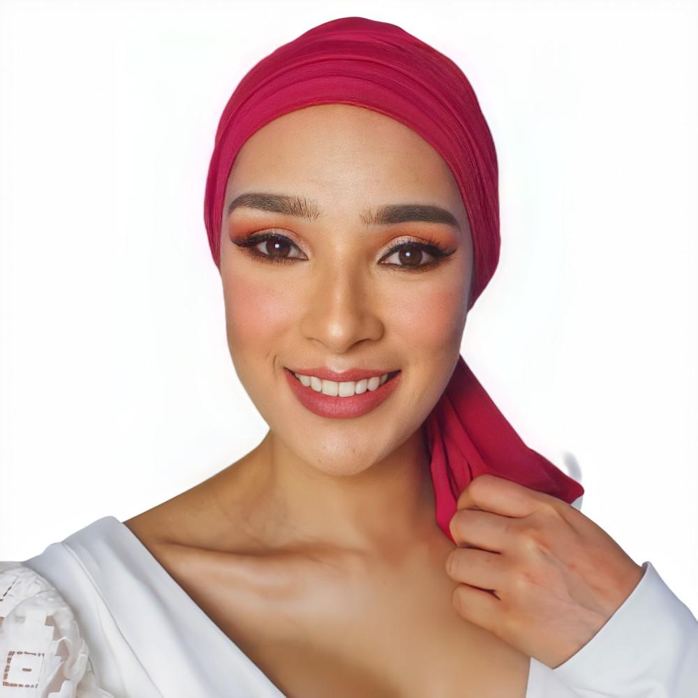 pañoleta oncológica roja