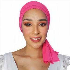 pañoleta oncológica rosada