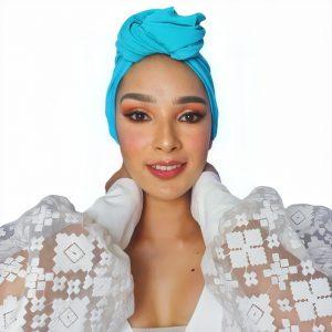 Turbante Oncológico Lola tube azul