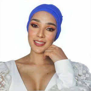 gorro azul cáncer